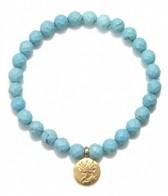 Satya Jewelry Turquoise Lotus Bracelet