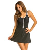 Reebok Zig Zag Flirt U Back Swim Dress