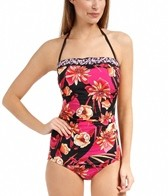 Jantzen Floral Promenade Party Girl Bandeau One Piece