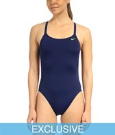 SwimOutlet Exclusive Nike Swim Solid Poly Spiderback Swimsuit