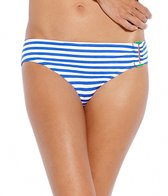 Jag Bel-Air Stripe Side Ring Scoop Bikini Bottom