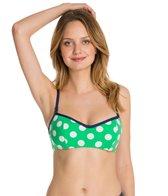Jag Mare Dot Reversible Underwire Bra Bikini Top
