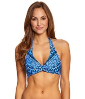 Sunsets Indigo Underwire Twist Halter Top