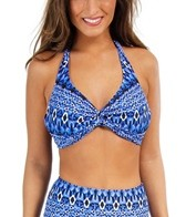 Sunsets Indigo Underwire Twist E/F/G Cup Halter Top