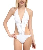 Swim Systems Dreamcatcher White Flutter Monokini