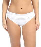 Swim Systems Dreamcatcher White Banded Bikini Bottom