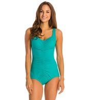 Maxine Shirred Front Polyester Girl Leg One Piece