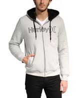 Hurley Men's One & Only Herringbone Zip Hoodie