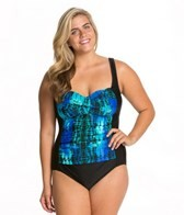 Delta Burke Plus Size Karma Twist One Piece