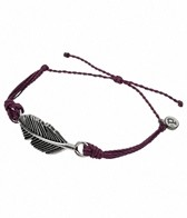 Pura Vida Silver Feather Burgundy