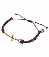 Pura Vida Gold Cross Burgundy