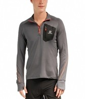 Salomon Men's Trail Runner Warm L/S Zip Tee