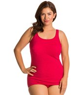 Penbrooke Mastectomy Krinkle Plus Size Scoop Neck Sheath