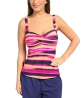 Gabar Sunset Stripe Twist Bra Jogger Two Piece