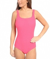 Gabar Matte latisse Texture Square Neck Maillot