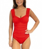 Kenneth Cole Haute Wave Shirred Front Mio One Piece