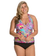 Kenneth Cole Modern Gypsy Plus Size Halter Tankini Top