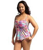 Kenneth Cole Modern Gypsy Plus Size Faux Twist Tankini Top