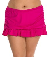 Kenneth Cole Ruffle-Licious Plus Size Rouched Skirted Bottom