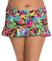 Kenneth Cole In Full Bloom Plus Size Rouched Skirted Bottom