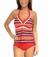 South Point Horizon Stripe Amped Up Halterkini Bikini Top