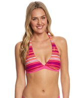 Reebok Fitness Claire Stripe Reversible Halter Top