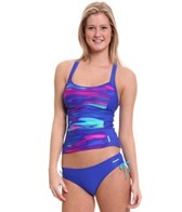 Reebok Fitness Kayla Colorblock Print Tankini Top