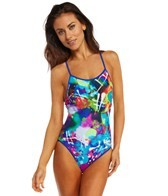 Reebok Fitness Shannon Blue Print One Piece