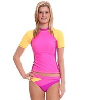 Reebok Fitness Cheryl Solid Coverup Rash Guard Top
