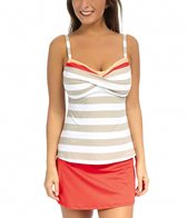 Beach House Key West Stripe Twist Bra Tankini Top