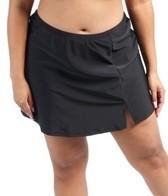 Ceeb Plus Size Solid Skirtini Bottom