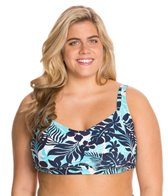 Beach House Plus Size Newport Tropical Floral Underwire Bra Top