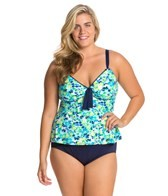 Beach House Plus Size Clearwater Floral Tankini Top