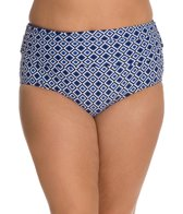 Beach House Plus Size Panama Geo Fold Over High Waist Bottom