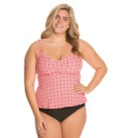 Beach House Plus Size Panama Geo Twist Bra Tankini Top