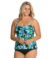 Beach House Plus Size St. Augustine Floral Bandeau Tankini Top