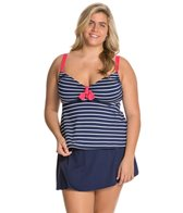 Beach House Plus Size Skipper Stripe Tankini Top