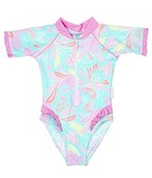 Sun Emporium Girls' One Piece with Frills (6mos-3yrs)