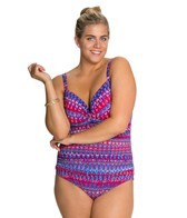 La Blanca Plus Size Santorini OTS Sweetheart Cup One Piece