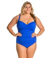 La Blanca Plus Size Core Solid Sweetheart Mio One Piece