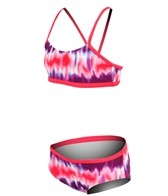 Nike Girls' Motion Blur V-Back Sport Bra and Brief Set (7-14)