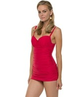 Profile by Gottex Shirred Beauty Underwire Swimdress