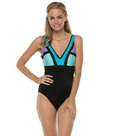 Longitude Between the Lines V-Neck Tank One Piece