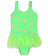 Hula Star Girls' Novelty Dot One Piece (4-6X)