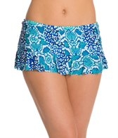 La Blanca Serpentina Ruffle Swim Skirted Hipster Bikini Bottom