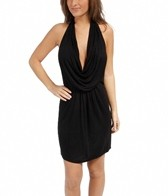 La Blanca Gypset Solid Draped Mini Dress