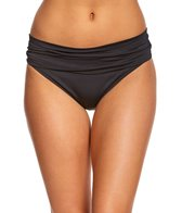 La Blanca Core Solid Shirred Band Hipster Bottom