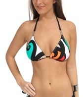 Trina Turk Pop Wave Triangle Bra Slider Top
