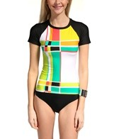 Trina Turk Color Block Rash Guard