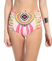 Mara Hoffman Rays Lattice High Waisted Bottom
